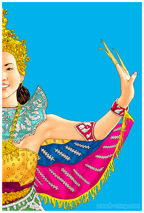Lao Art Kinnaly Dancer