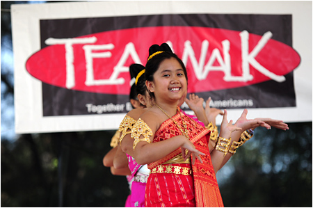 LAS Dancers at TEA Walk