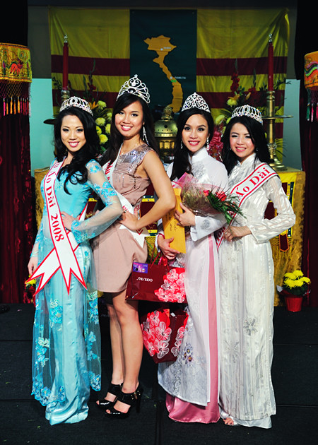 Past and Present Winners of the Miss Viet Georgia Pageant