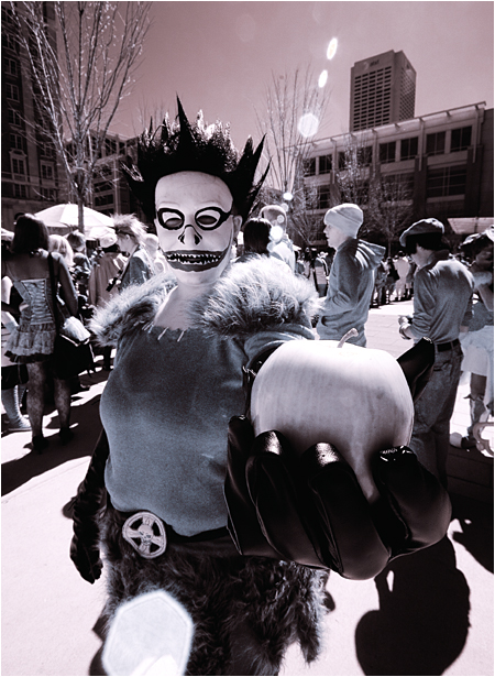 MomoCon Portrait of Ryuk in Infrared