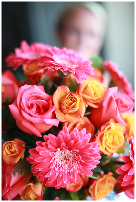 Bouquet of Pink and Orange Flowers