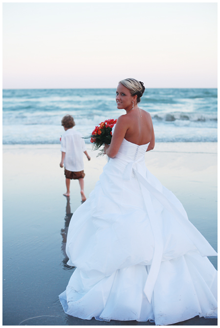 Bride on the Shore at Myrtle Beach