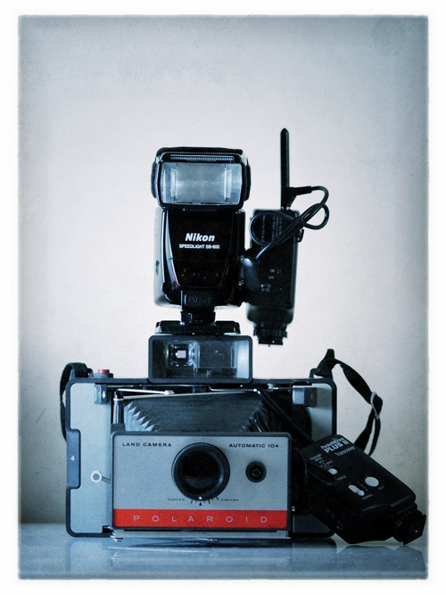 Polaroid Automatic Land Camera 104 with Nikon Speedlights