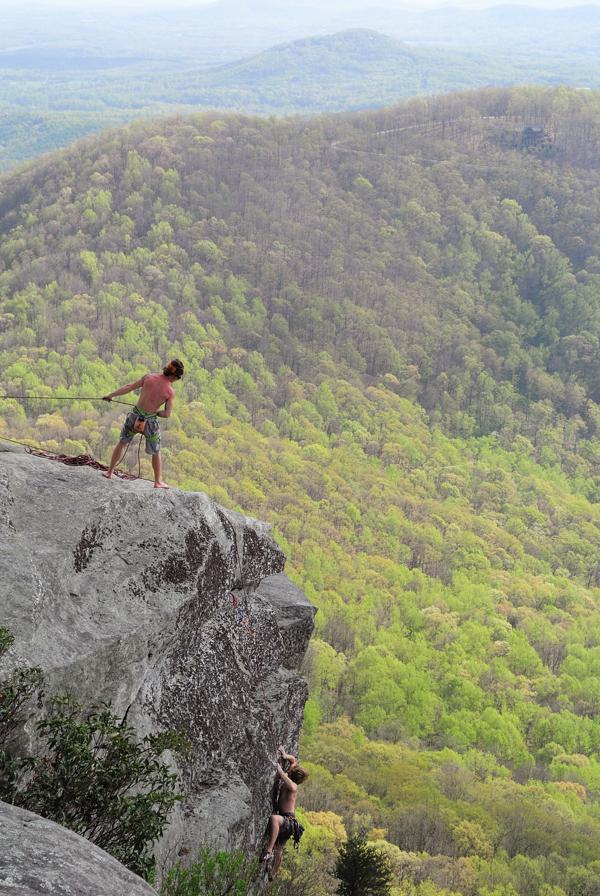 Rock Climber on Mount Yonah